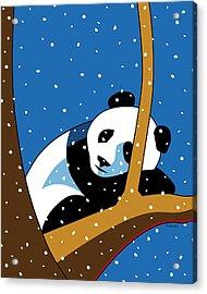 Panda At Peace Acrylic Print by Ron Magnes