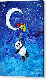 Panda Dreams Acrylic Print by Ella Kaye Dickey