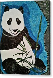 Acrylic Print featuring the painting Panda by Jasna Gopic