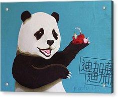 Panda Joy Acrylic Print
