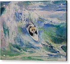 Panda Surfer Acrylic Print