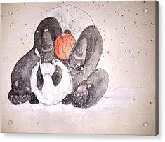 Pandamonium Album Acrylic Print by Debbi Saccomanno Chan
