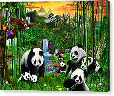 Panda's Paradise Acrylic Print by Gerald Newton