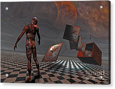 Pandora's Boxx Acrylic Print by ML Walker