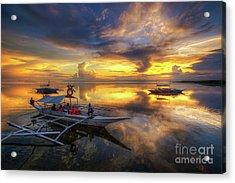 Acrylic Print featuring the photograph Panglao Port Sunset 10.0 by Yhun Suarez