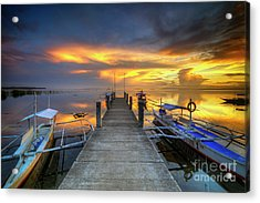 Acrylic Print featuring the photograph Panglao Port Sunset 8.0 by Yhun Suarez