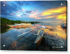 Acrylic Print featuring the photograph Panglao Port Sunset 9.0 by Yhun Suarez