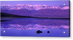 Panorama Badwater And The Panamint Range At Sunrise Death Valley Acrylic Print