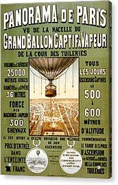 Panorama De Paris Acrylic Print
