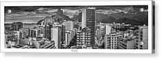 Panorama Leblon - Rio De Janeiro Acrylic Print