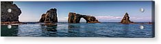 Acrylic Print featuring the photograph Panorama Of Anacapa Rocks by Endre Balogh