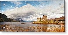 Panorama Of Eilean Donan Castle Scotland Acrylic Print by Colin and Linda McKie