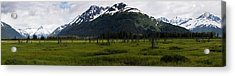 Panorama Of Green Meadow Acrylic Print