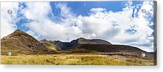 Panorama Of Macgillycuddy's Reeks In County Kerry Acrylic Print by Semmick Photo