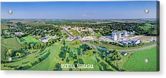Panorama Of Osceola Nebraska Poster Version Acrylic Print