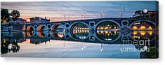 Acrylic Print featuring the photograph Panorama Of Pont Neuf In Toulouse by Elena Elisseeva
