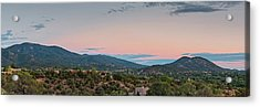 Panorama Of Santa Fe Sangre De Cristo Mountains - New Mexico Land Of Enchantment Acrylic Print