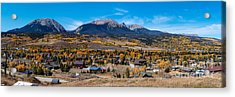 Panorama Of Silverthorne In The Fall - White River National Forest - Rocky Mountains - Colorado Acrylic Print by Silvio Ligutti