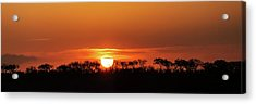 Panorama Of South African Sunset Acrylic Print