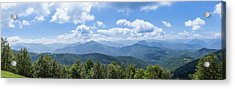 Panorama Of The Foothills Of The Pyrenees In Biert Acrylic Print by Semmick Photo