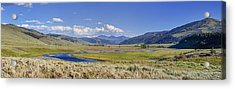 Panorama Of The Lamar Valley Acrylic Print