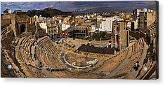 Panorama Of The Roman Forum In Cartagena Spain Acrylic Print