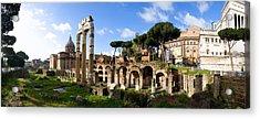 Panorama Of The Roman Forum Acrylic Print by John  Bartosik