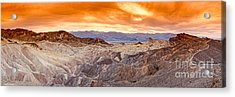 Panorama Of Zabriskie Point Manly Beacon In Death Valley National Park - Inyo County California Acrylic Print by Silvio Ligutti