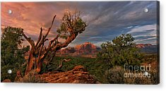 Panorama Storm Back Of Zion Near Hurricane Utah Acrylic Print