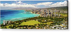 Panorama - Waikiki, Honolulu, Oahu, Hawaii Acrylic Print