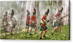 Panoramic French And Indian War Battle Acrylic Print by Randy Steele