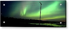 Panoramic Prairie Northern Lights Acrylic Print by Mark Duffy