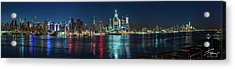 Panoramic Skyline-manhattan Acrylic Print