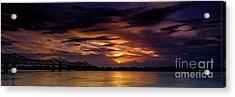 Panoramic Sunset At Natchez Acrylic Print