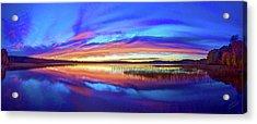 Panoramic Sunset At Round Lake Acrylic Print