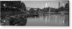 Panoramic Tulsa Oklahoma Skyline Black And White Acrylic Print