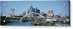 Panoramic View Of Bridge Acrylic Print by Panoramic Images