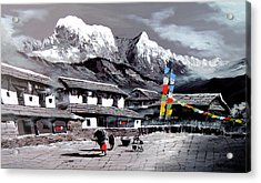 Panoramic View Of Everest Base Camp Acrylic Print