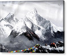 Panoramic View Of Everest Mountain Acrylic Print