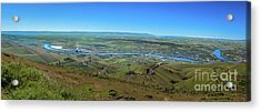 Panoramic View Of Lewiston Acrylic Print by Robert Bales