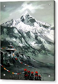 Panoramic View Of Mountain Everest Acrylic Print