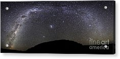 Panoramic View Of The Milky Way Acrylic Print by Luis Argerich