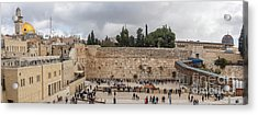 Panoramic View Of The Wailing Wall In The Old City Of Jerusalem Acrylic Print