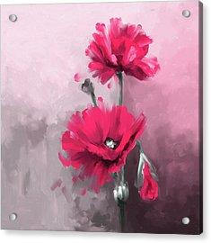 Pansies 408 2 Acrylic Print by Mawra Tahreem