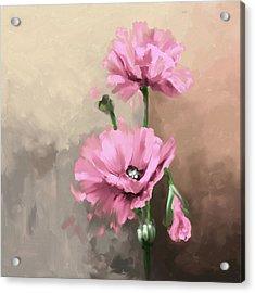 Pansies 408 3 Acrylic Print by Mawra Tahreem