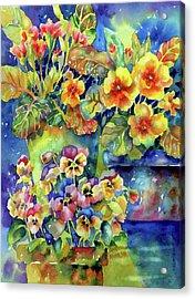 Pansies And Primroses Acrylic Print