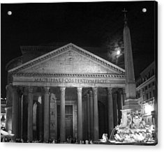 Pantheon Full Moon Acrylic Print by Alan Zeleznikar