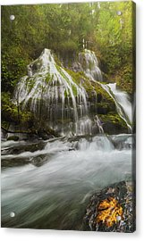 Panther Creek Falls In Fall Season Acrylic Print