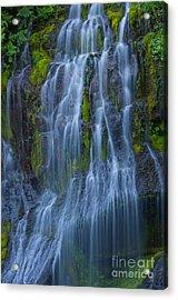 Panther Creek Falls Summer Waterfall -close 2 Acrylic Print