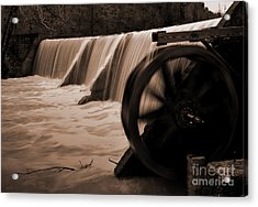 Panther Valley Water Wheel Acrylic Print by Fred Lassmann